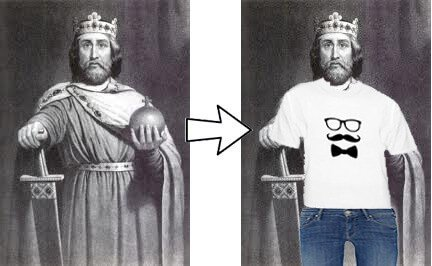 William the Conquerer dressed with Carbon dating in 2050