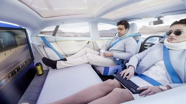 Driverless cars are being tested in MCity. Photo via BBC.com