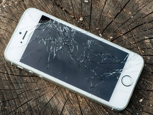 unbreakable glass and cracked cell phones