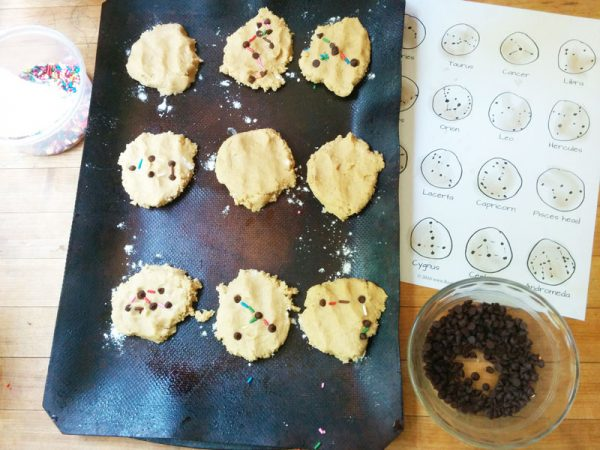 edible constellations cookies for kids