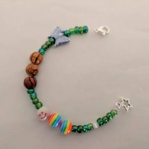 butterfly life cycle bracelet