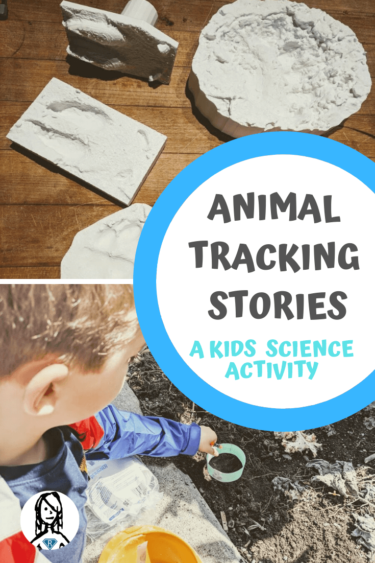 Animal Tracks Storytelling - kids science activity with 3d printed animal tracks and curriculum