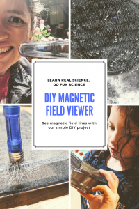 DIY magnetic field viewer kids science