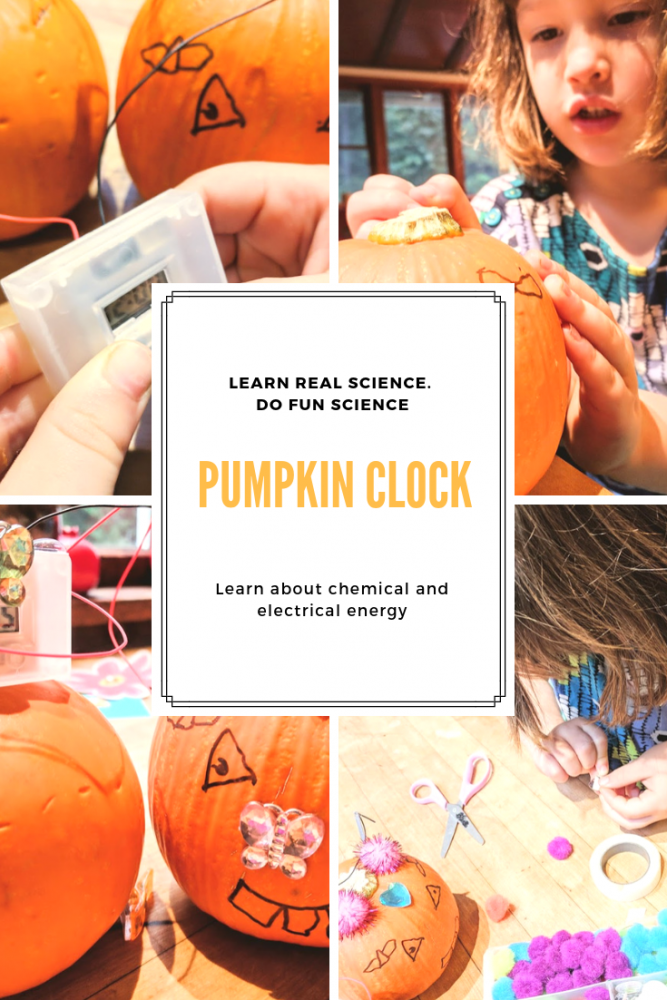 DIY pumpkin clock fall crafts