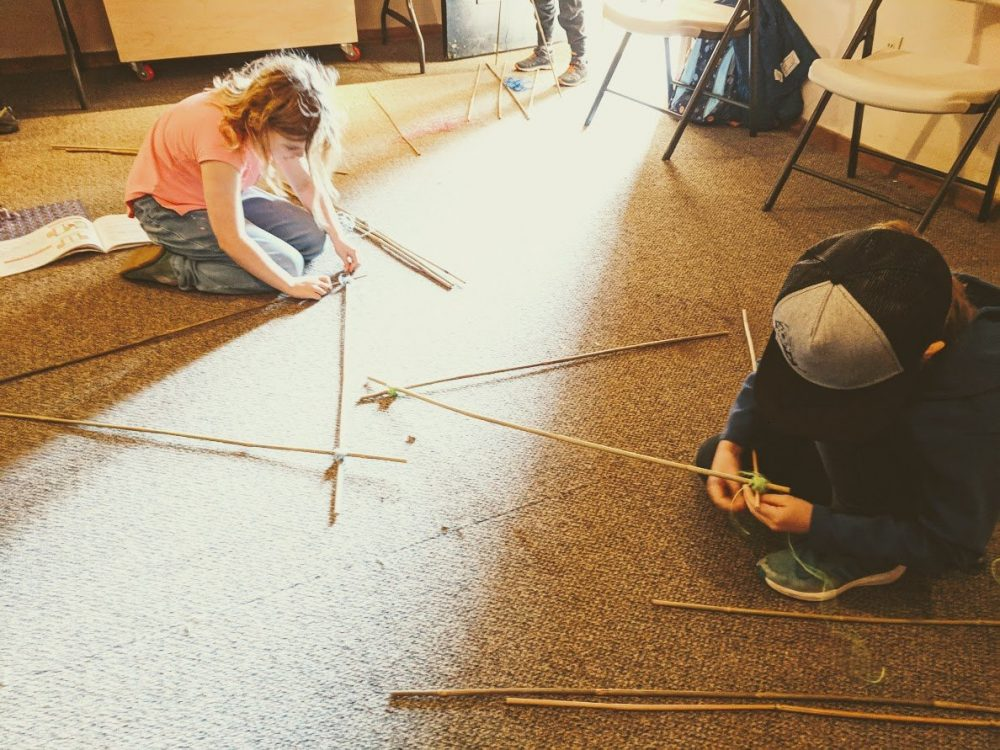 Engineering giant catapults with kids