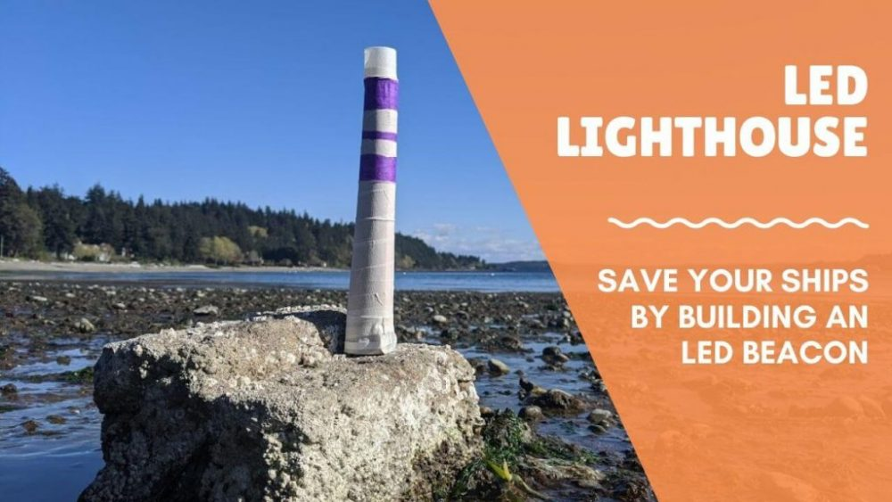 Create an LED lighthouse with this fun kids circuit activity