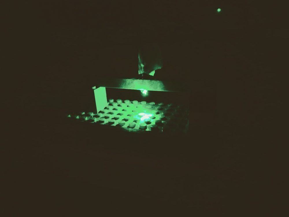 Making a mini microscope for kids using a green laser