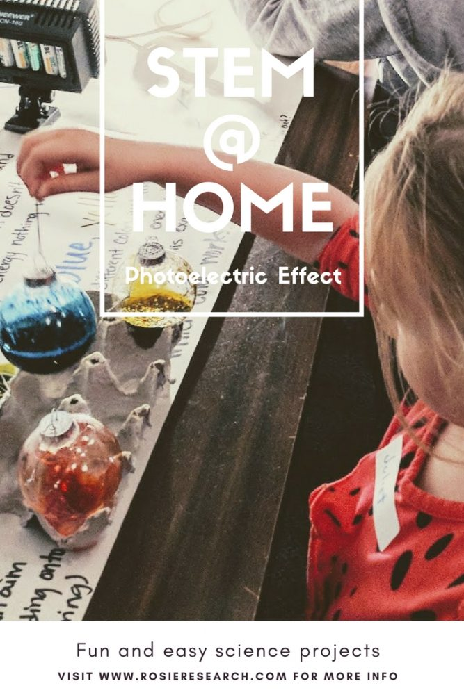 Photoelectric effect demo for kids