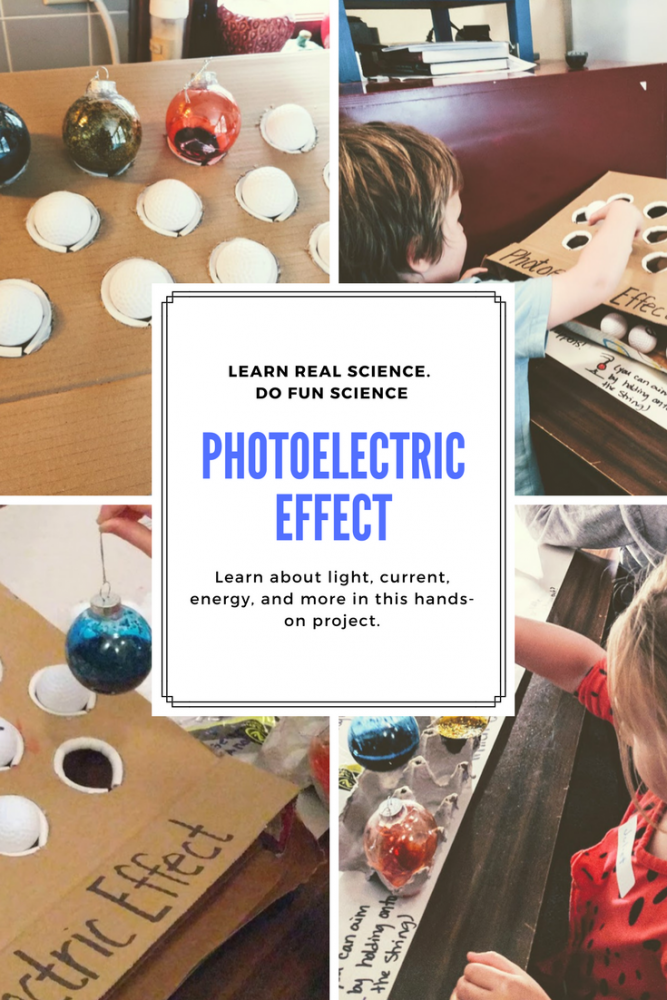 Photoelectric effect kids activity