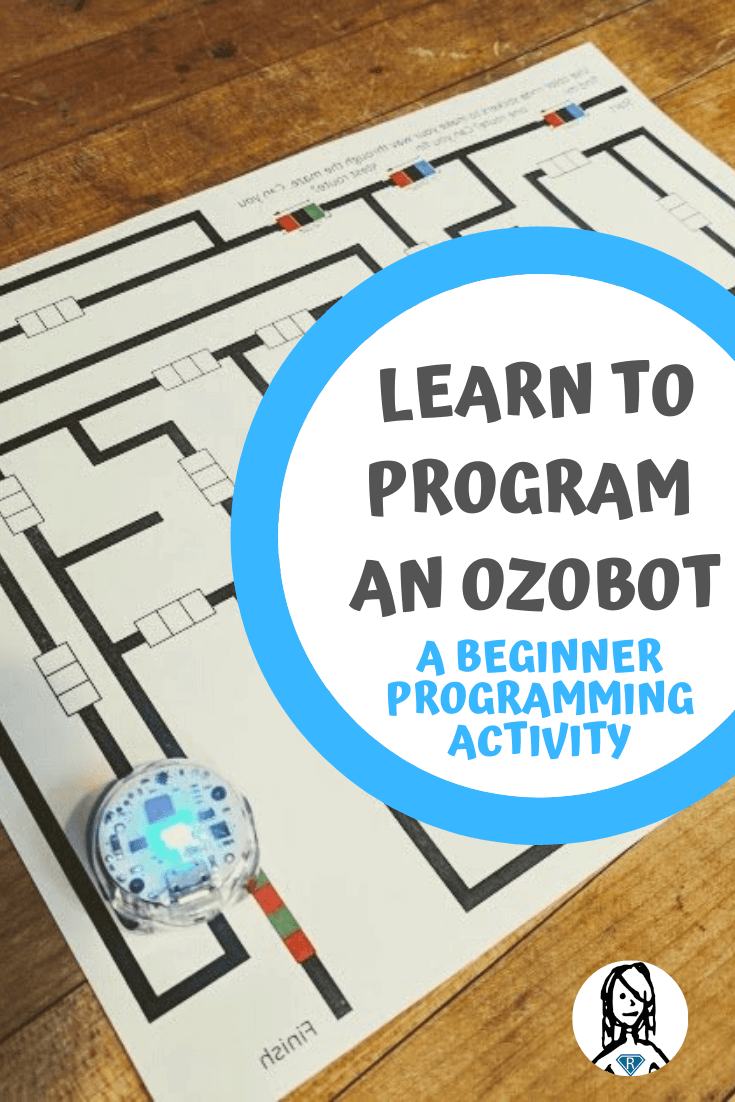 Learn to Program an Ozobot with a beginning programming activity - ozobot following lines on maze