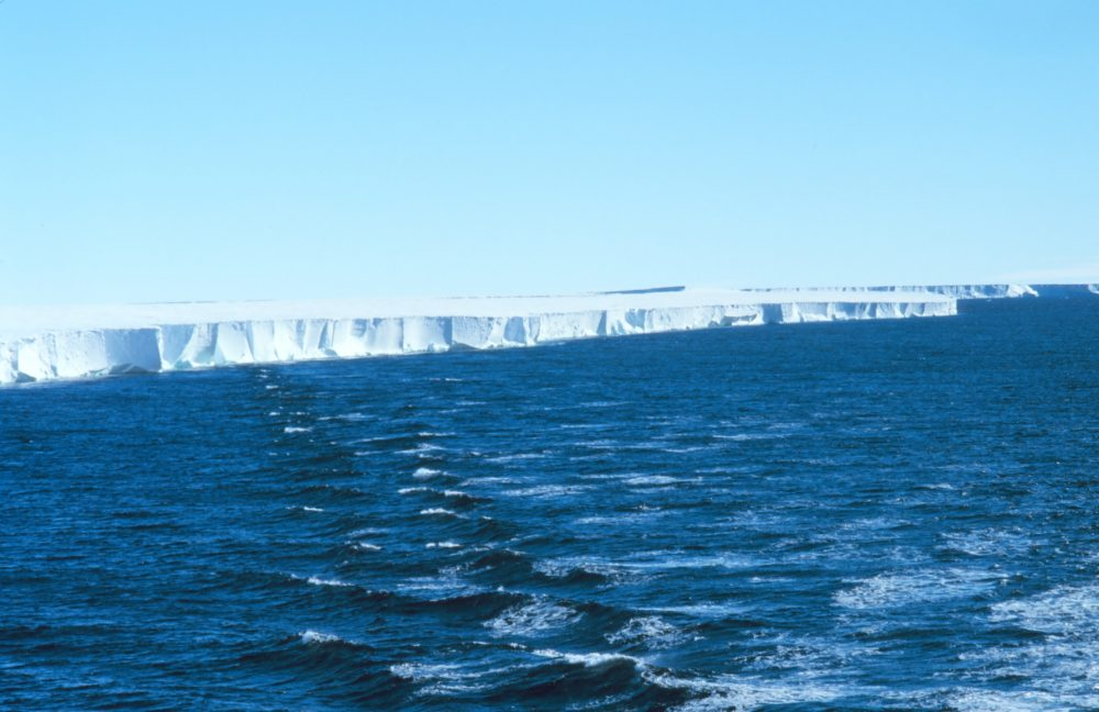 Ross Ice Shelf - recent discovery that scientists can listen to the singing of the ross ice shelf surface to learn about near surface events like storms or melting