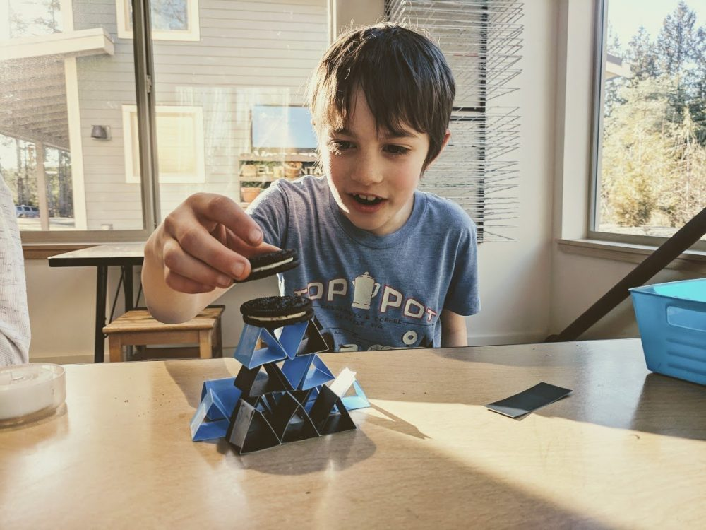 afterschool science classes on bainbridge island - engineering challenges with paper