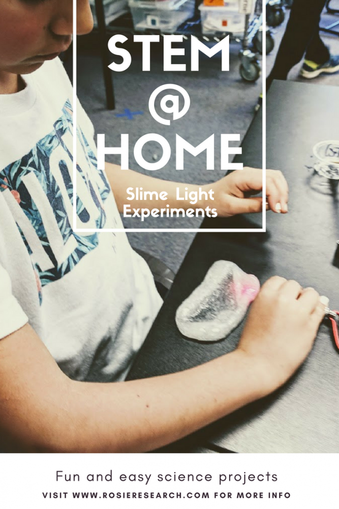 clear slime light experiments for kids
