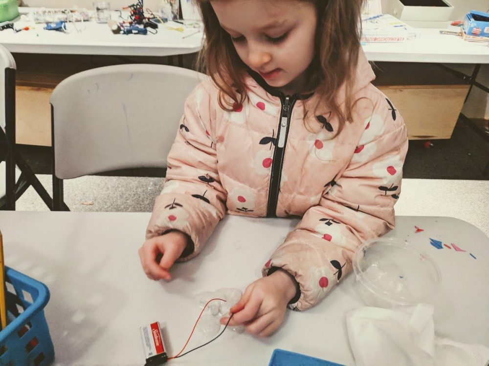 conductive slime rainbow for St Patricks Day