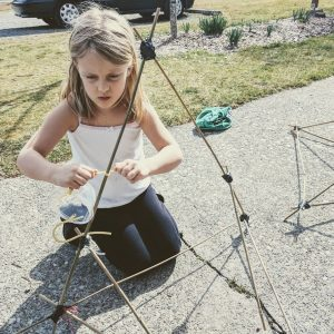 creating a giant catapult with slingshot elastic