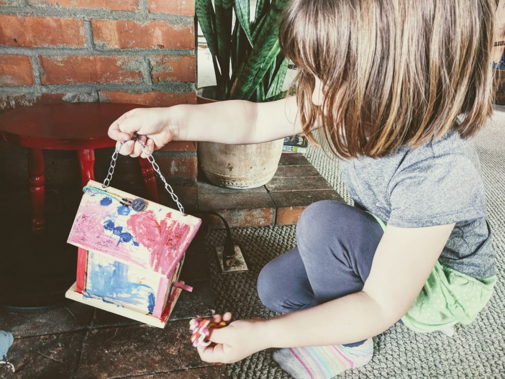 decorating a diy fairy house or fairy lantern for circuit building fun