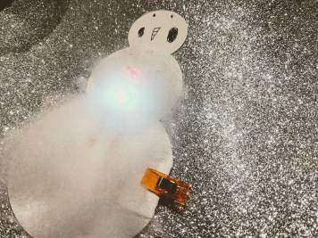 decorating a simple circuit project - paper circuit snowman featured