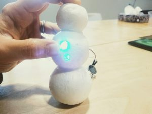 diy led snowman decorations building the body 2
