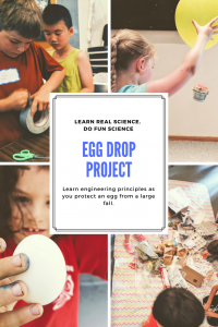 egg drop science experiment project - engineer with eggs