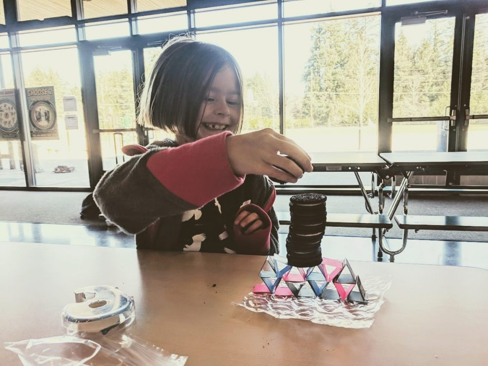 engineering challenges with paper - afterschool programs on bainbridge island