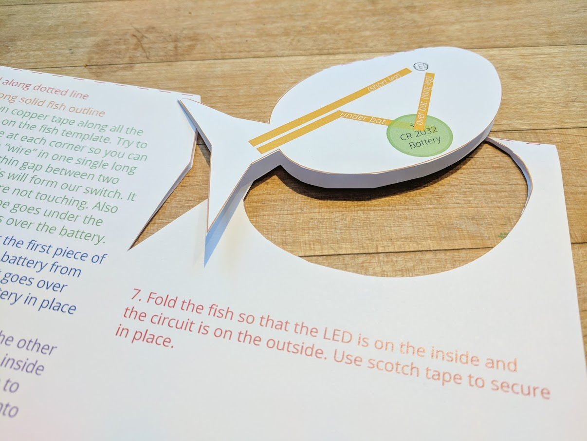 fathers day card fishing kids craft cut out the LED fish