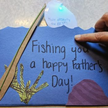 fathers day card fishing kids craft
