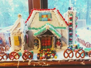 winter crafts for kids gingerbread house kit