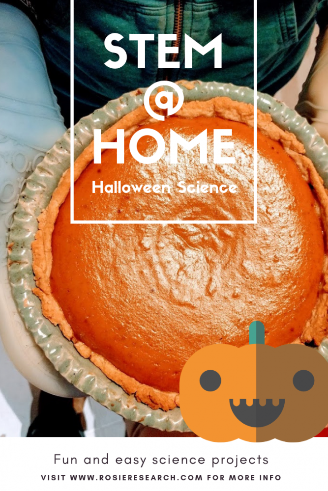 halloween cooking with kids - learning the science of pumpkin pie