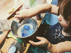 how to make clear slime color