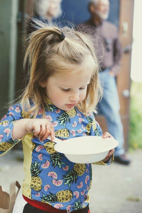 how to make ice cream - eating homemade ice cream