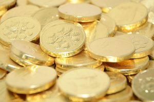 leprechaun gold chocolate coins