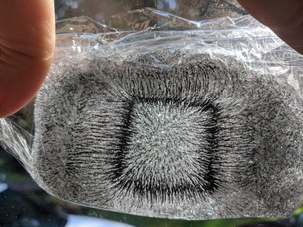 magnetic slime field lines make a great slime science fair project