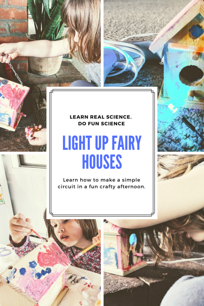 making a DIY fairy house or fairy lantern that lights up