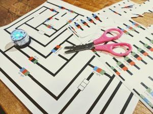 Use ozobot sticker codes to program your way through an ozobot maze