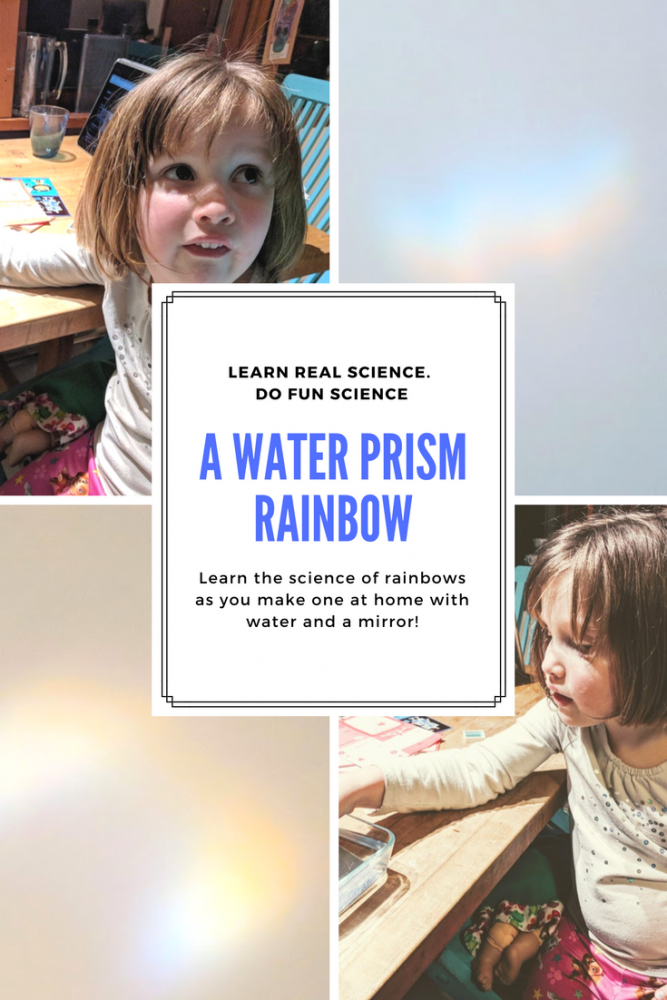 water prism how to make a rainbow